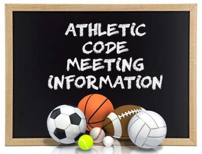 Athletic Code Meeting