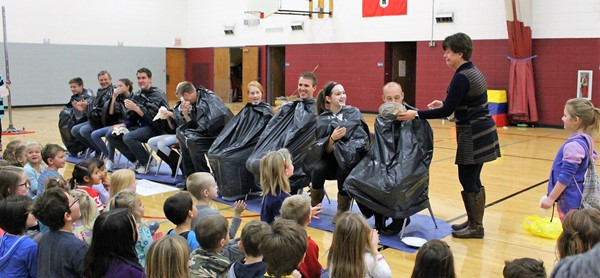 Mr. Hill takes the Pie-in-the-Face!