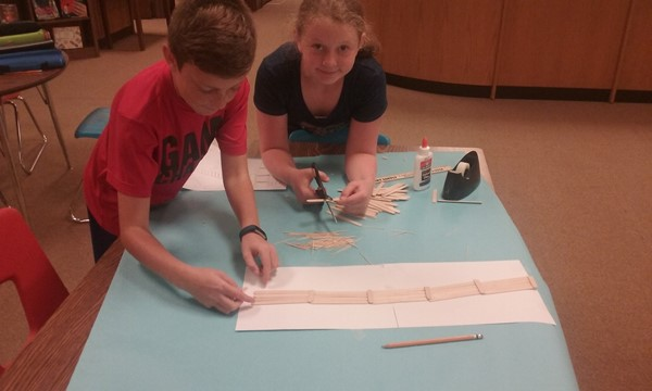Students develop an understanding of structural engineering and design.