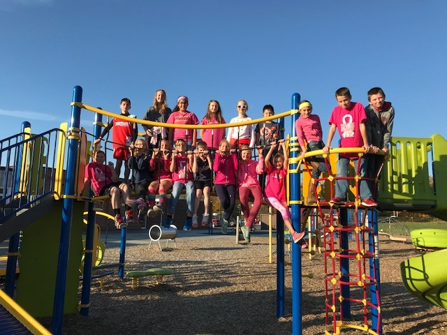 "Students Dress in ""Pink"" for Breast Cancer Awareness"