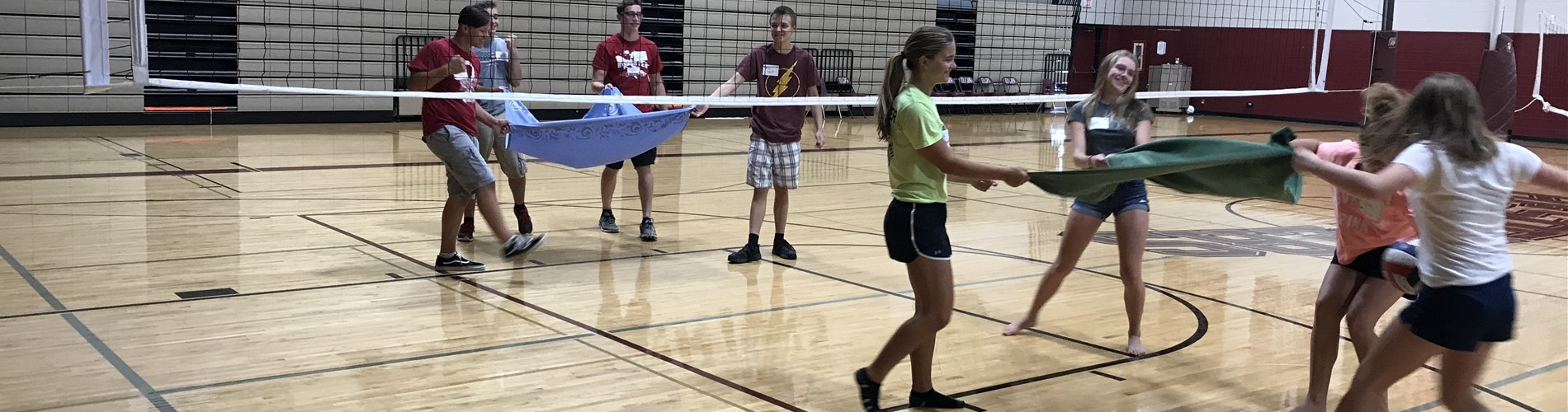 Volleyball at Leadership Day